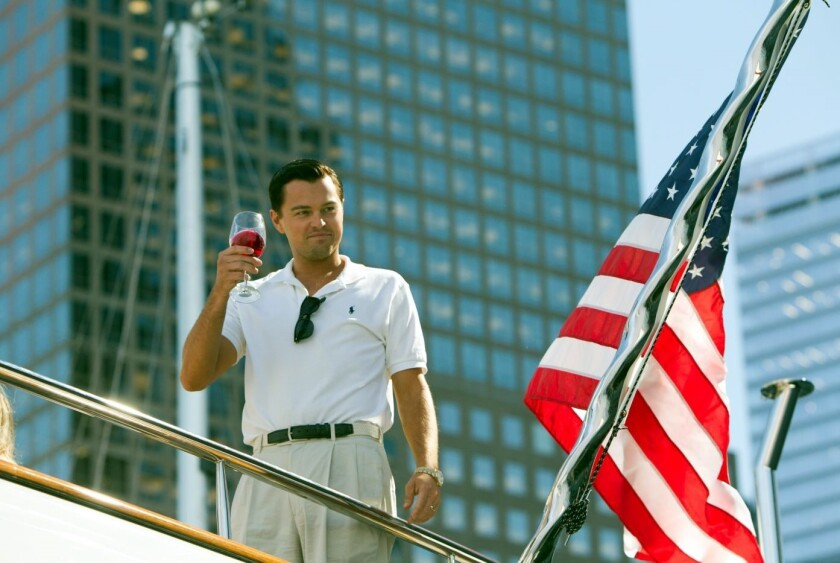 """Leonardo DiCaprio en una escena de """"The Wolf of Wall Street"""", una de las grandes cintas de Scorsese."""