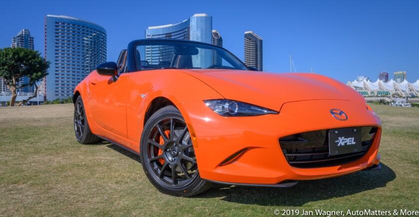 Jan's orange 2019 30th Anniversary Edition Mazda MX-5 Miata