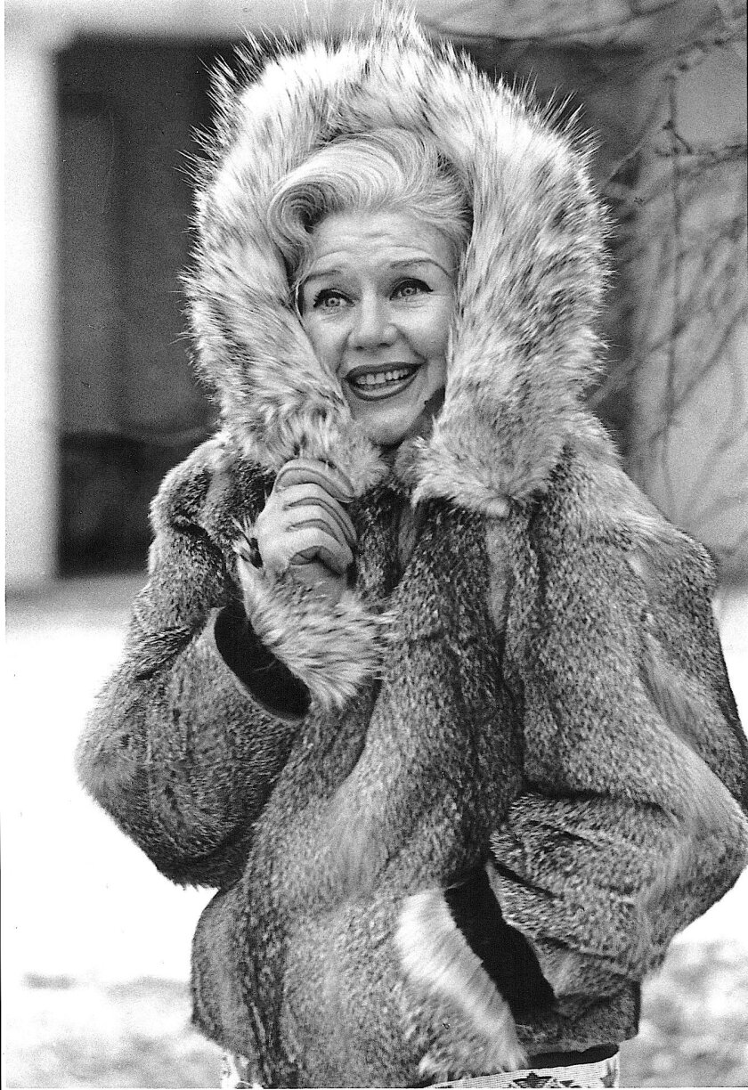 "Bundled up in New York, sometime between 1965-68, when she was starring in ""Hello Dolly"" on Broadway."