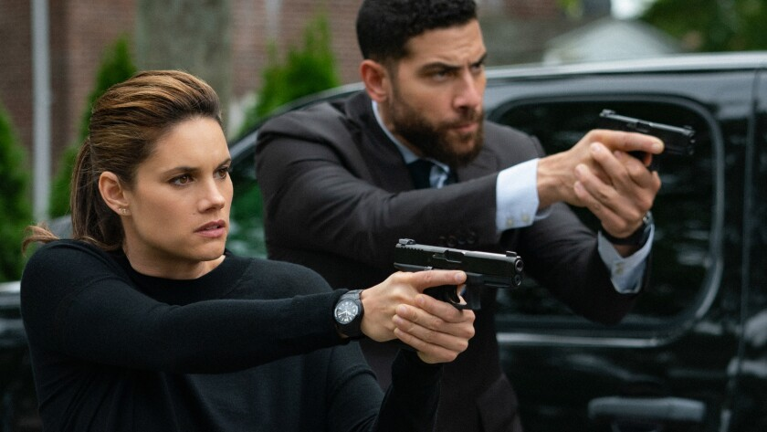 "Missy Peregrym and Omar Adom in a new episode of the crime drama ""FBI"" on CBS."