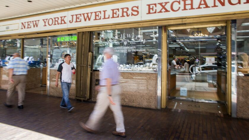 There are more than a dozen Cambodian jewelry stores in the jewelry district.
