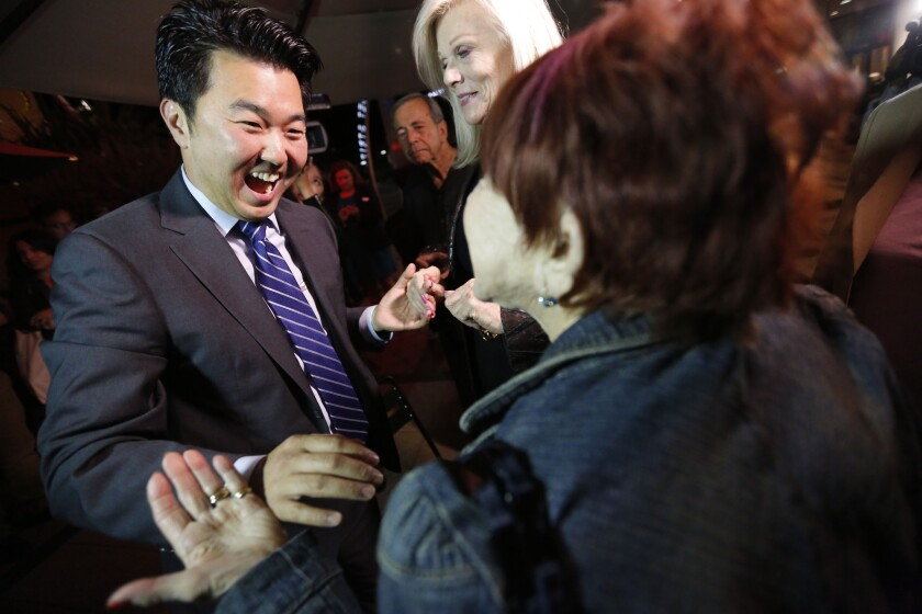 Health center development director David Ryu is just the second Asian American elected to the L.A. City Council.