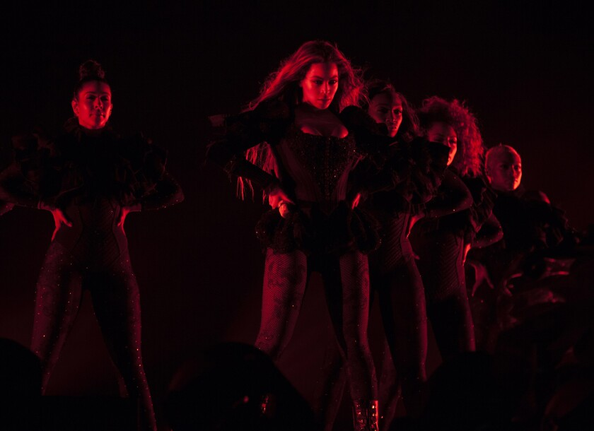 Beyoncé performs during the Formation World Tour at Carter Finley Stadium on May 3, 2016, in Raleigh, N.C.