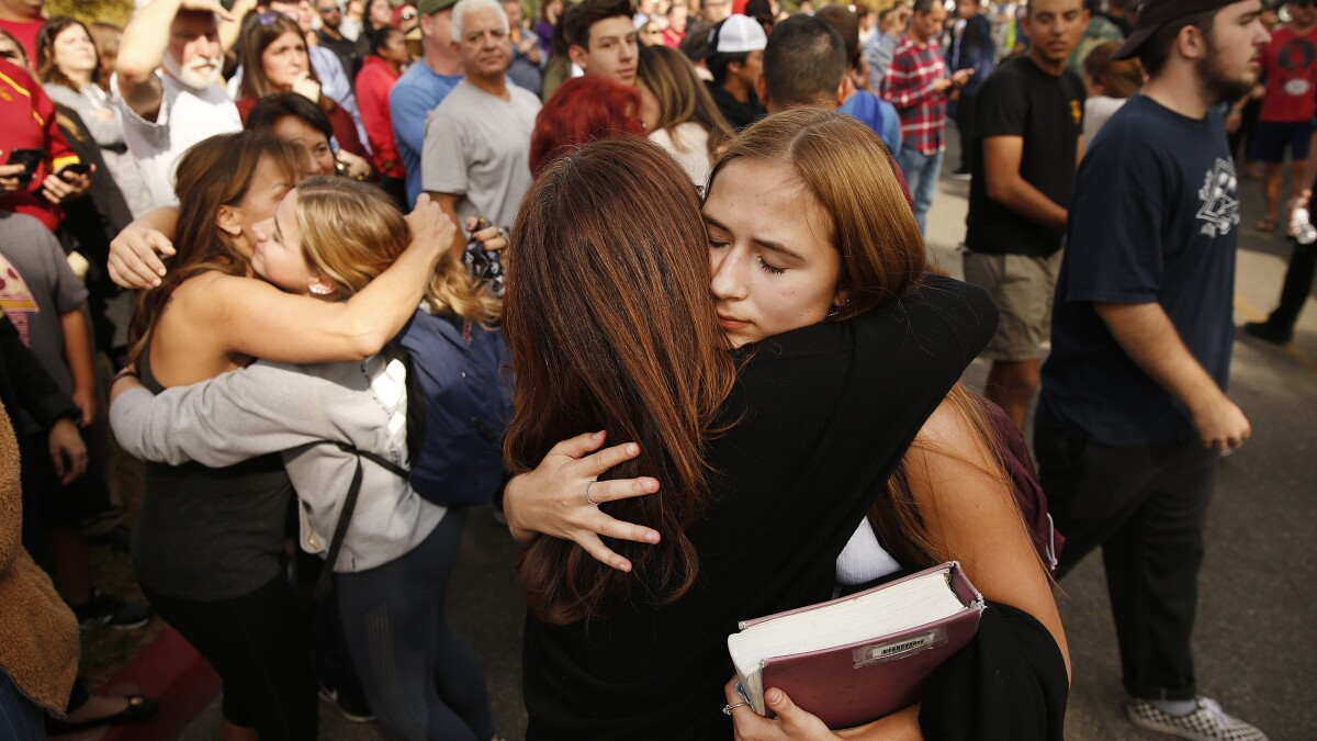Saugus High School, where shooting occurred, will remain closed until Dec. 2