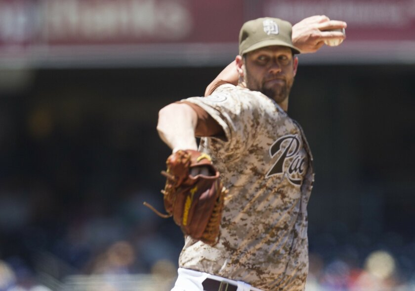 Walks proved to be the problem for Padres lefthander Eric Stults against the Dodgers.