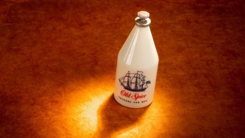 A vintage Old Spice cologne bottle that belonged to Doug Tschorn, father of Adam Tschorn, The Times' deputy fashion editor, for more than a half century.