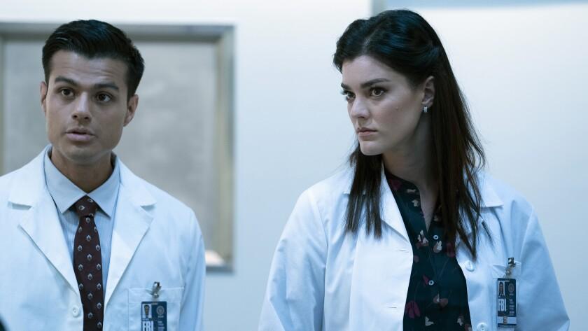 "Juan Ayala and Jamie Eddy in ""Blindspot"" on NBC."