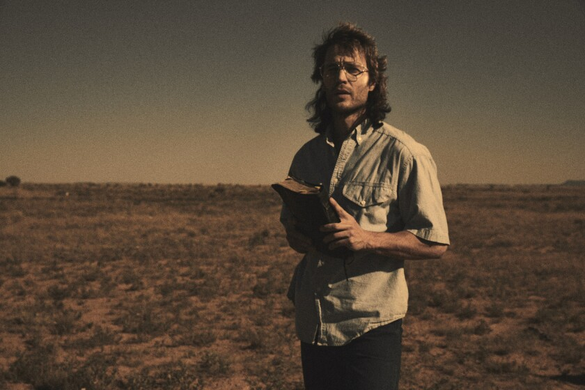"Taylor Kitsch in a scene from ""Waco."" Credit: Paramount Network"