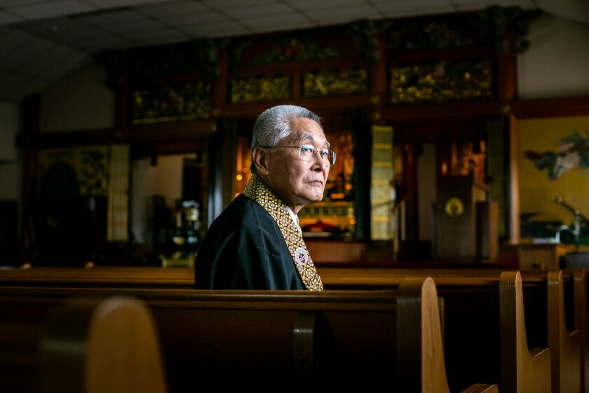 Rev. Kenji Akahoshi of the Buddhist Temple of San Diego conducts weekly Buddhist lessons on YouTube.