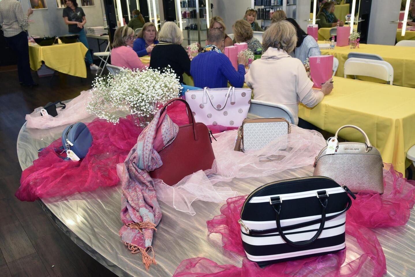 Designer handbags were the prizes for the evening