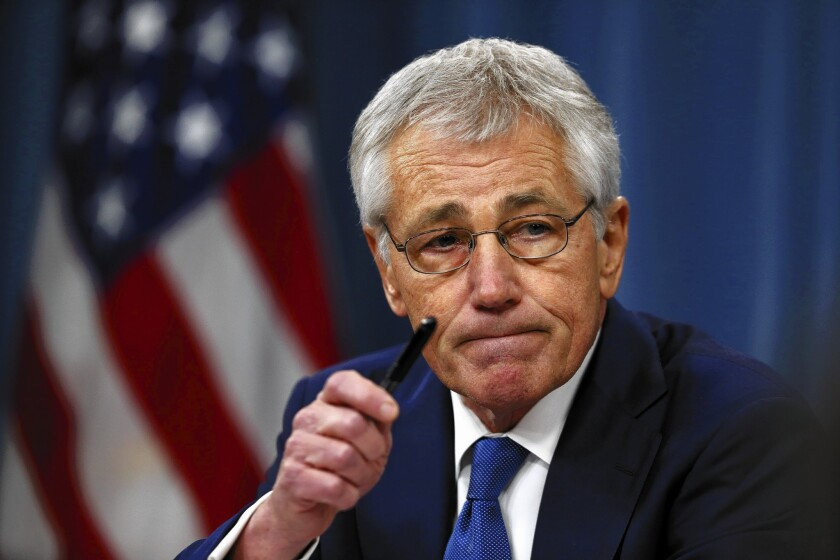 Defense Secretary Chuck Hagel acknowledged morale problems in the nation's nuclear forces, but he also told them during a tour of bases that there was no room for error in their work.