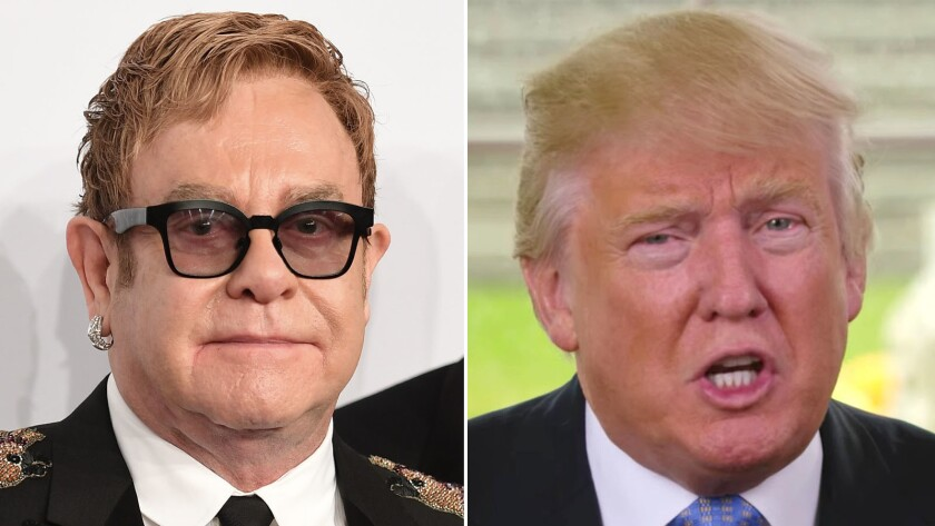 Elton John isn't playing for Donald Trump