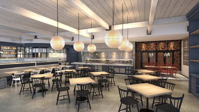 Artist's rendering of Herb & Sea, a seafood-centric restaurant project from the Puffer Malarkey Collective opening in Encinitas in summer 2019. It's one of the most anticipated new San Diego County restaurant projects of 2019.