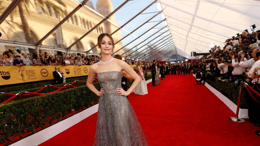 LOS ANGELES, CA - January 26, 2015 Emmy Rossum at the 21st Annual Screen Actors Guild Awards at th