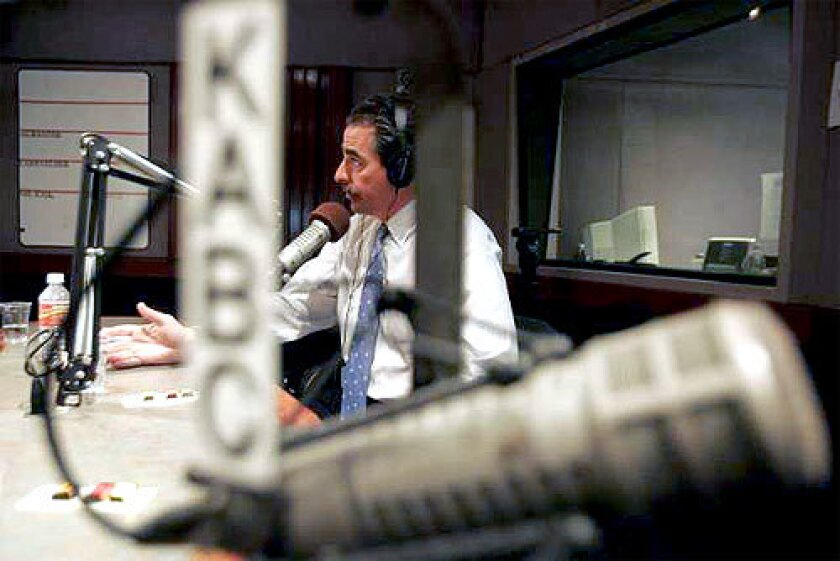"'TOP GUN' ATTORNEY: Myles L. Berman, 50, speaks on the Al Rantel radio show on KABC-AM (790). The DUI lawyer's barky ads, which are a staple on Los Angeles radio talk shows, feature his firm's motto, ""Friends don't let friends plead guilty."""
