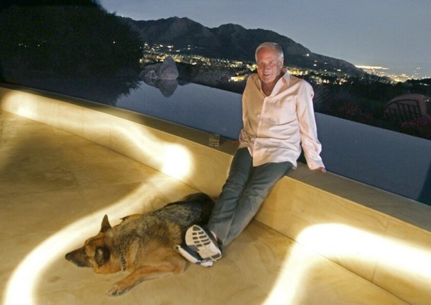 Jerry Weintraub still stays connected, even from his home overlooking the valley in Palm Desert, Calif.