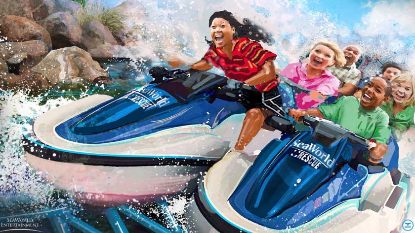 Wave Breaker coaster at SeaWorld San Antonio