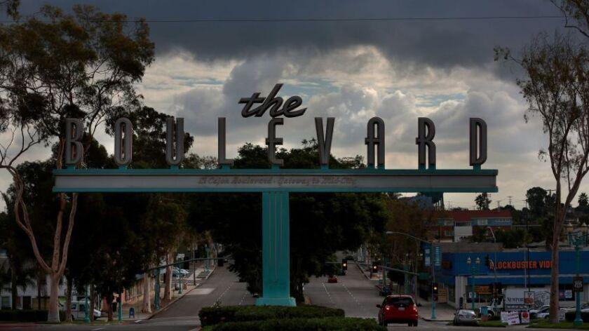 The Boulevard sign on El Cajon marks San Diego's original highway.