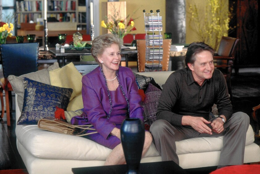 Diana Douglas and son Michael Douglas in 2003. Diana Douglas was best known for her work in television, starting in the late 1940s.