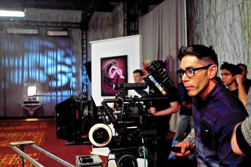 """Daniel """"Malakai"""" Cabrera directs a scene in """"Two Bellman."""""""