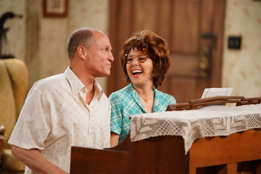 Woody Harrelson and Marisa Tomei in the special live re-creation of Norman Lear's