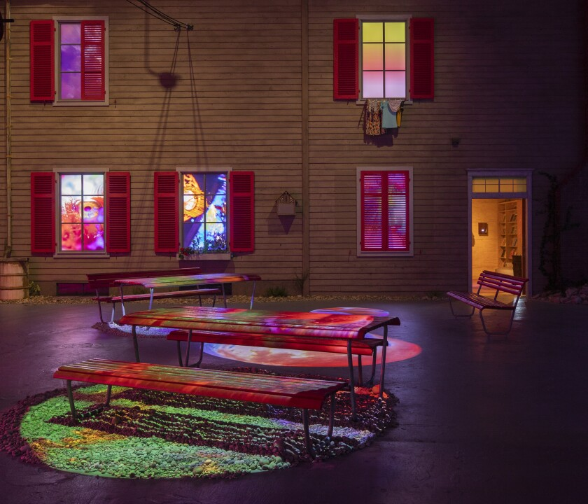 """""""Peeping Freedom Shutters"""" at the Geffen Contemporary at MOCA"""