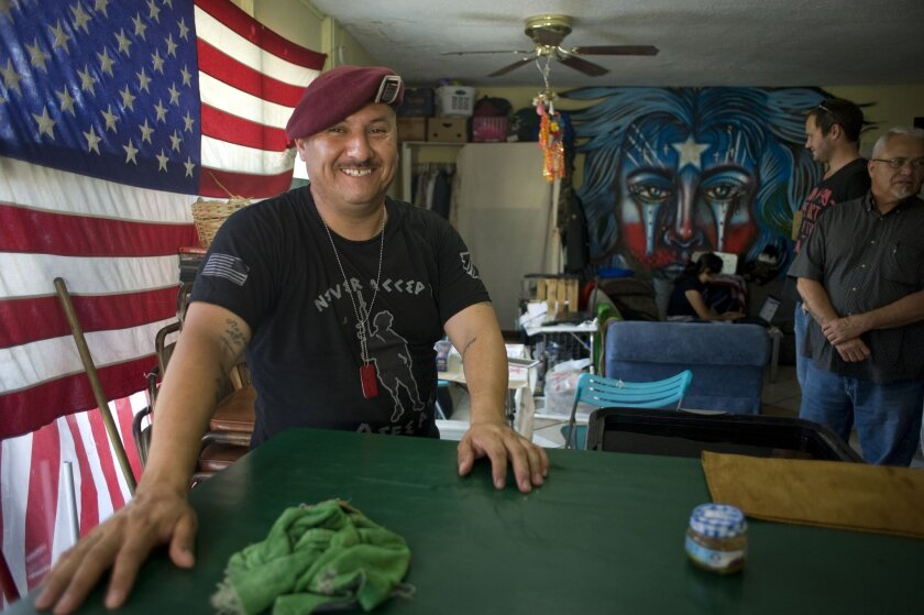Hector Barajas, director of the Deported Veteran's Support House, poses for a photograph in the house on June 19, 2014 in Tijuana, Mexico. The group provides support of U.S. military veterans who have been deported from the U.S., as well as supporting other immigration rights issues. Photo - David