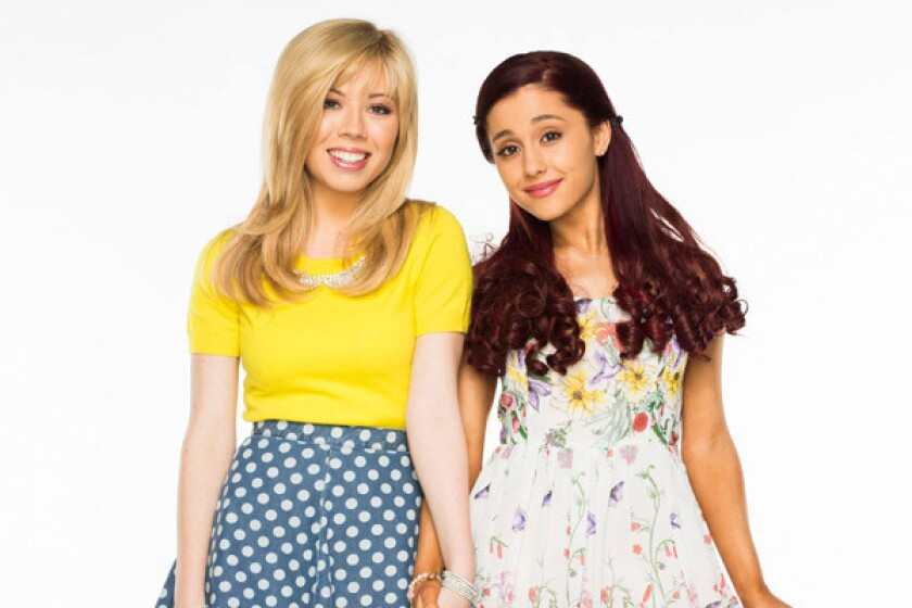 "Jennette McCurdy and Ariana Grande star in ""Sam & Cat."""