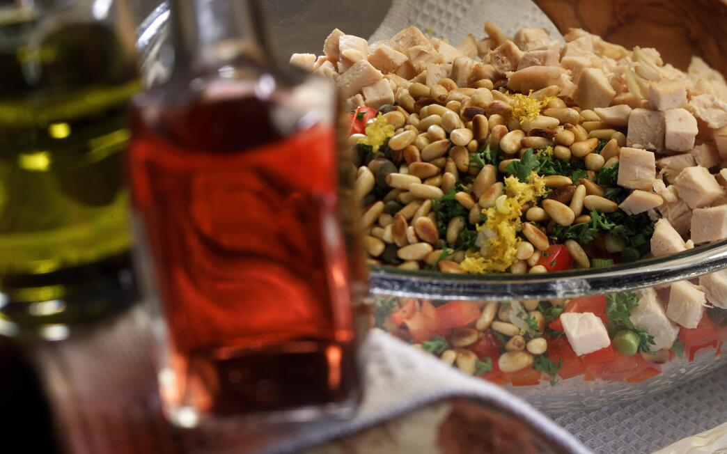 Lemon Rice Salad With Capers and Pine Nuts