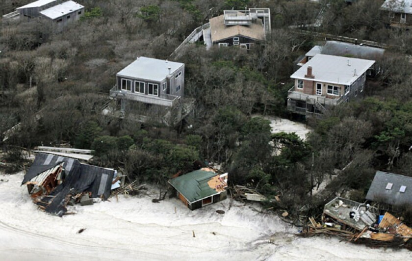 From the air, arriving passengers see Sandy's devastation