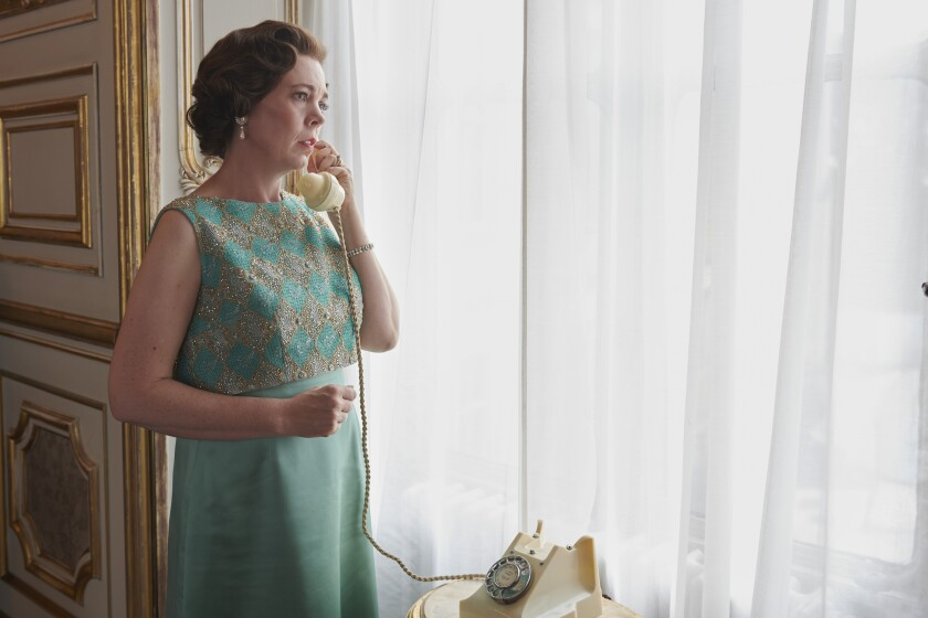 """Olivia Colman in """"The Crown."""" Colman has previously played Elizabeth II's mother in the 2012 film """"Hyde Park on Hudson."""""""