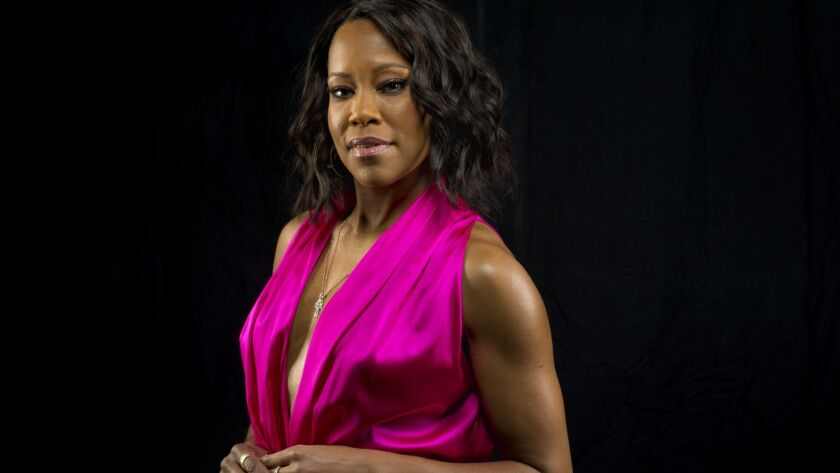 LOS ANGELES,CA --TUESDAY, FEBRUARY 13, 2018--Actresses Clare-Hope Ashitey, in white and Regina King,