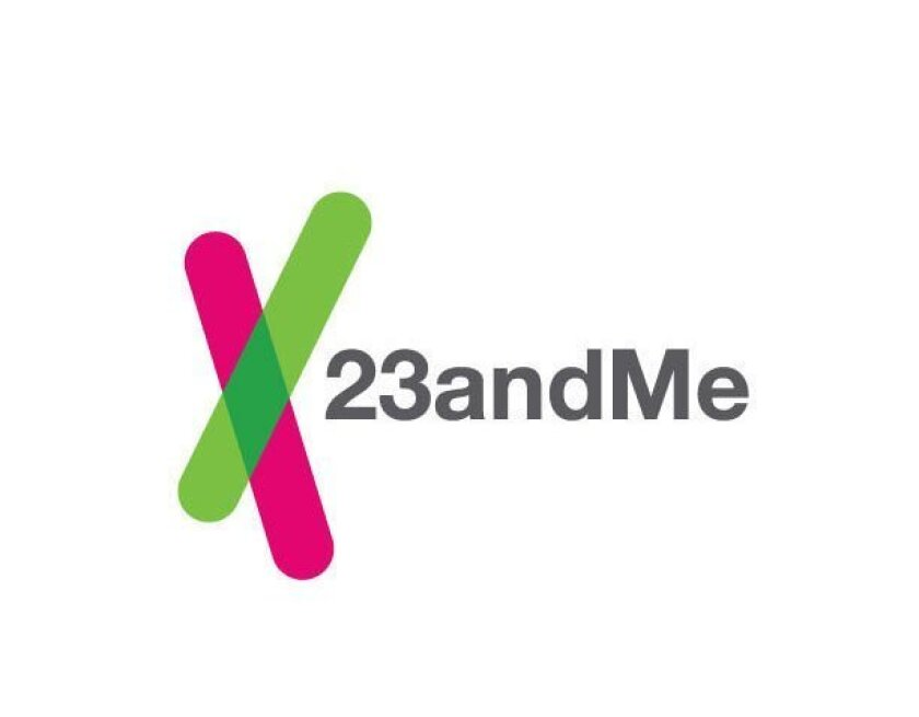 This image provided by 23andMe shows the company's logo. Genetic testing company 23andMe is facing a class action lawsuit, Monday, Dec. 3, 2013, alleging that the Silicon Valley startup misled customers with advertising for its personalized DNA test kit. (AP Photo/23andMe)