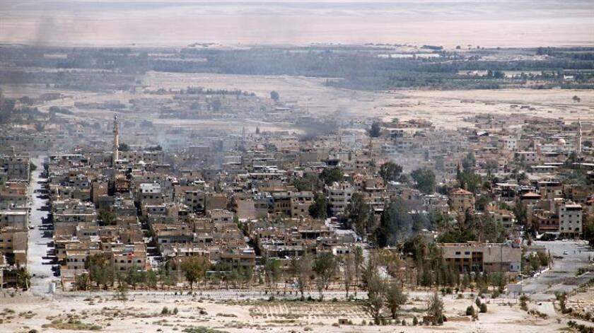 La aviación de EEUU está intensificando sus ataques aéreos contra posiciones del Estado Islámico (EI) en la ciudad histórica de Palmira (Siria), que los yihadistas han vuelto a tomar, informó hoy el Pentágono. EFE/ARCHIVO