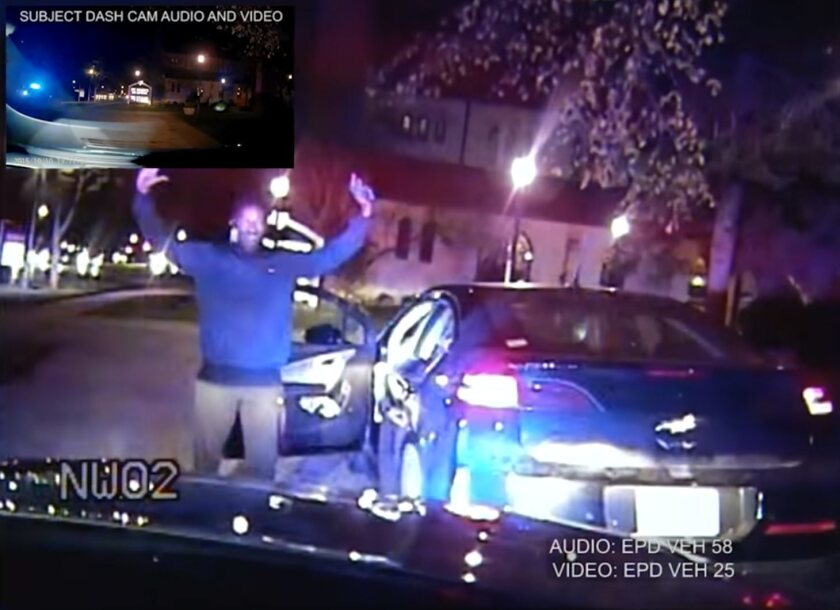 Released video shows police kneeing and punching Northwestern graduate student and Ph.D. candidate Lawrence Crosby in 2015 after a woman mistook him for stealing a car that he owned.