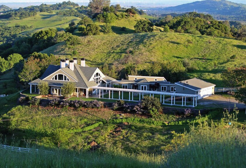 The main building of the Silent Stay Retreat Home & Hermitage sits atop a Vacaville, Calif., hill.