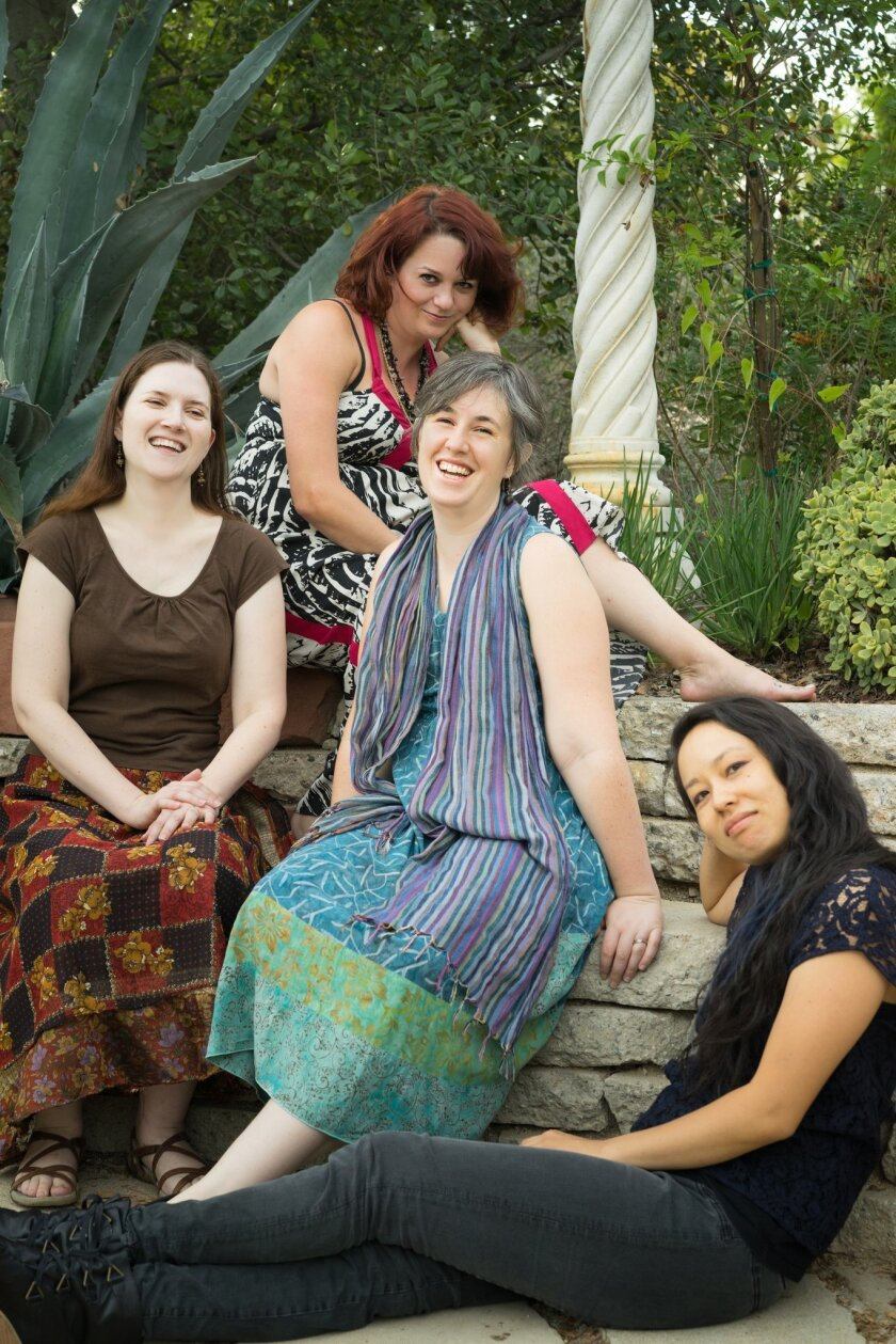 The members of Accordant Commons: (from left) Stephanie Aston, Marja Liisa Kay, Argenta Walther and Tany Lang.