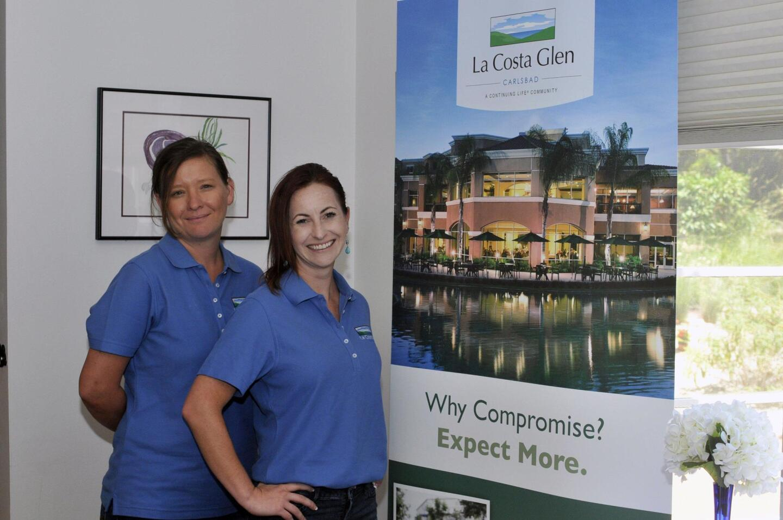 Representing luncheon sponsor La Costa Glen are Melanie Tillman and Kelly Rusthover