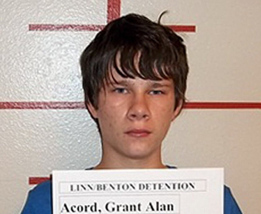 Grant Acord, 17, was arrested Thursday night after police got a tip that he was making a bomb to blow up his high school south of Portland, Ore.