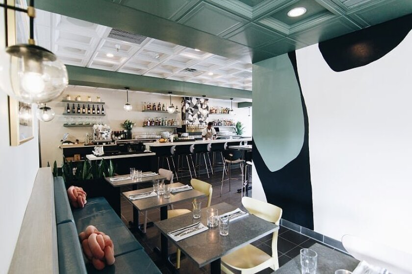 InsideClara restaurant and bar, which opened Sept. 1 in the Carlsbad Village Faire center in Carlsbad.