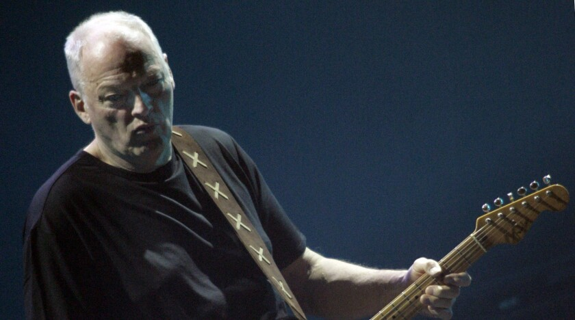 Pink Floyd's David Gilmour, performing with his solo project at the Kodak Theatre in 2006.