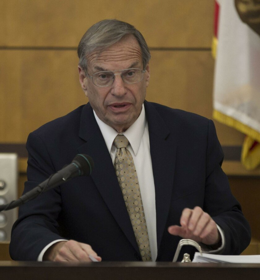 Former San Diego Mayor Bob Filner the defendant in a sexual harrassment suit against him filed by Stacy McKenzie, testified from the witness stand on Monday, March 28, 2016.