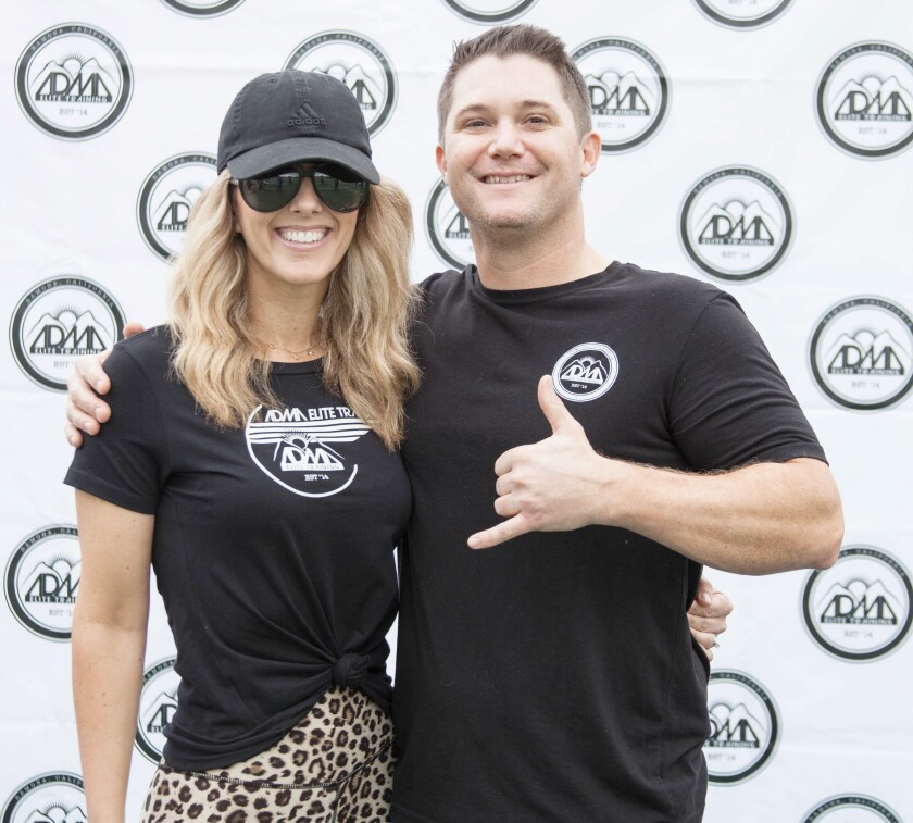 ADMA Elite Training co-owners Lindsay and Anthony Abbott are offering virtual bootcamps and corporate wellness programs.