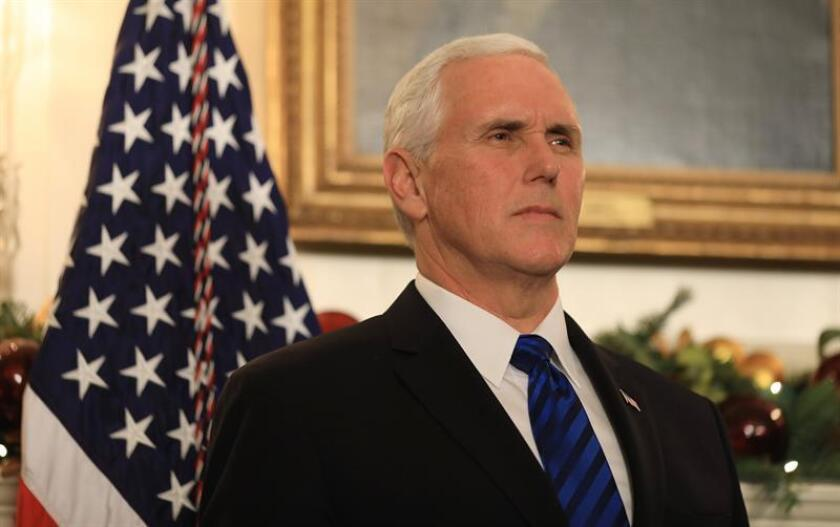 US Vice President Mike Pence listens as US President Donald Trump. EFE/File