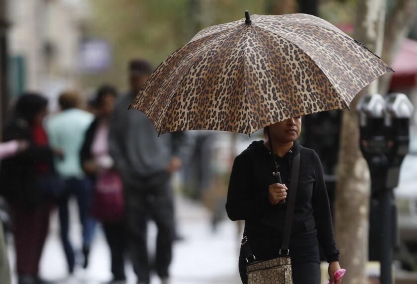 Rain in Santa Ana
