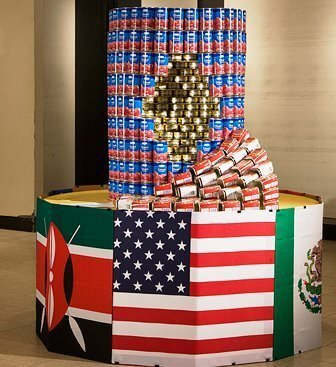 Making art from cans