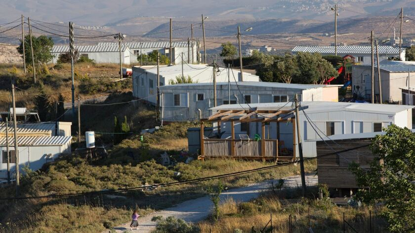 Amona, an unauthorized Israeli outpost located in the West Bank, east of the Palestinian town of Ramallah, is pictured on May 18.