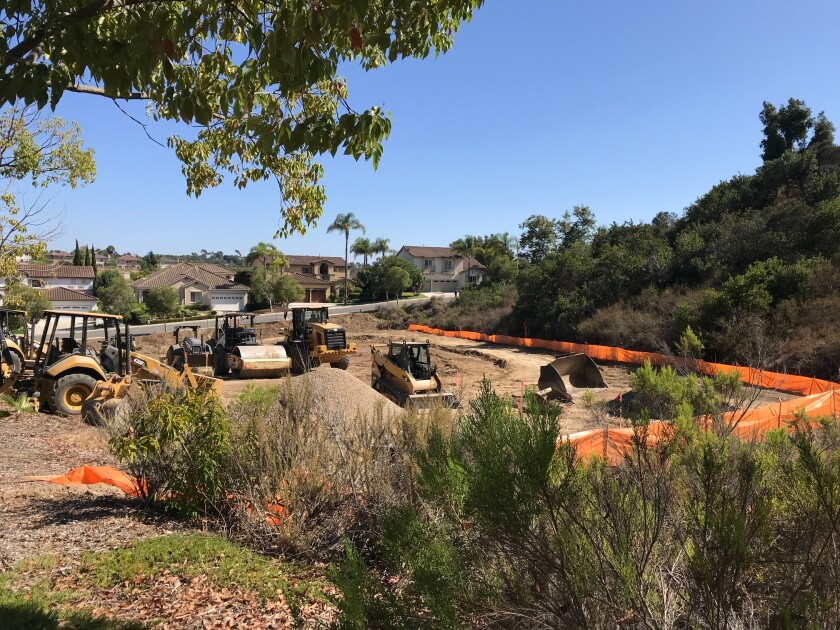 Construction has begun on a new water quality project on Pearlman Way and Carmel Knolls.