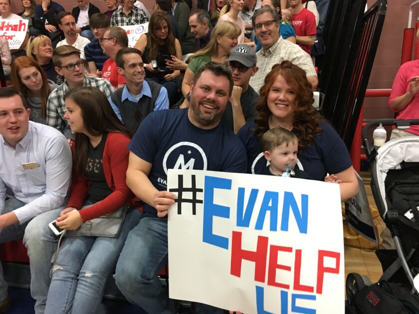Cecil and Tiffany Sullivan have attended four rallies for Evan McMullin.