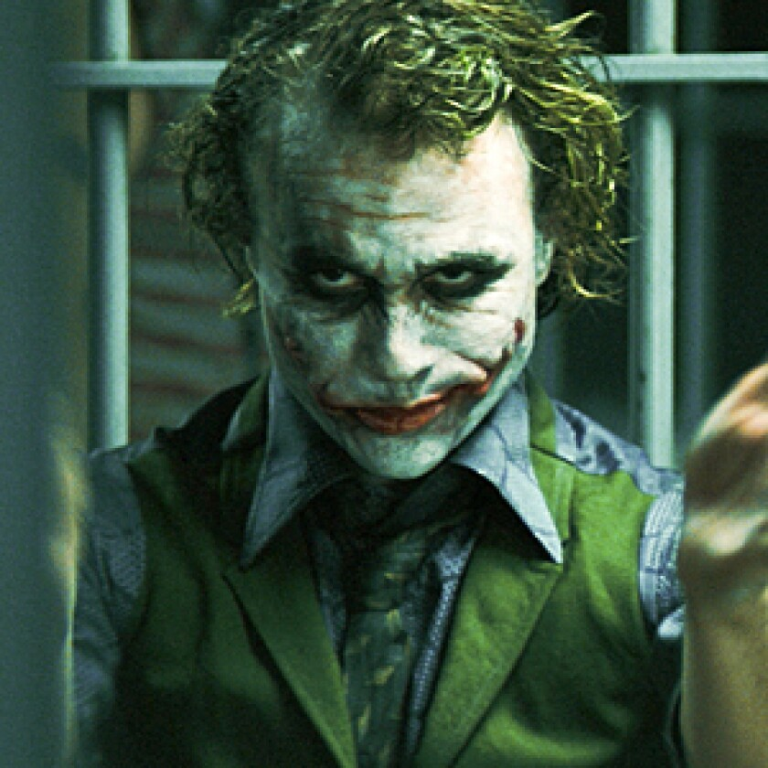 Heath Ledger defined the Joker forever and then departed the planet. It's Heath.